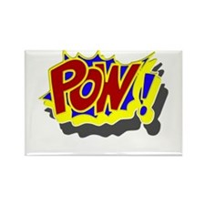 POW! Comic Book Style Rectangle Magnet
