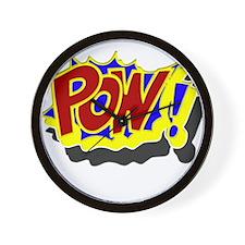 POW! Comic Book Style Wall Clock