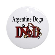 Argentine Dogo Dad Ornament (Round)