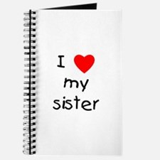I love my sister Journal