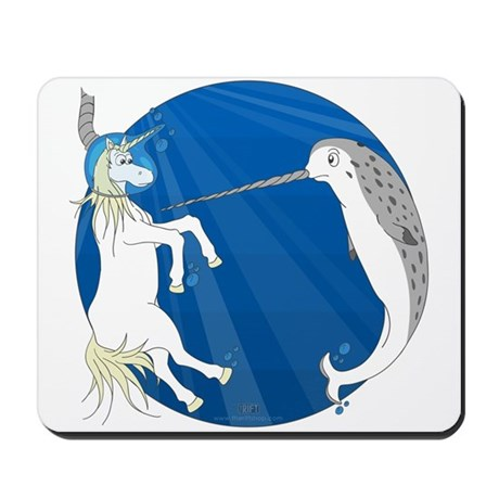 Unicorn Meets Narwhal Mousepad