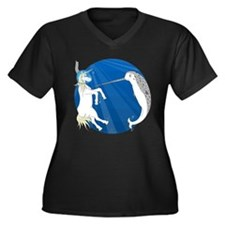 Unicorn Meets Narwhal Women's Plus Size V-Neck Dar