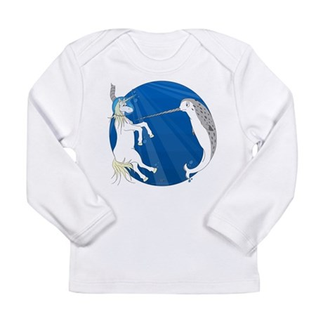 Unicorn Meets Narwhal Long Sleeve Infant T-Shirt