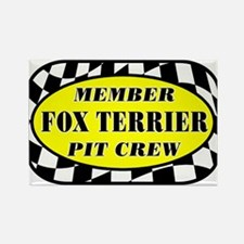 Fox Terrier PIT CREW Rectangle Magnet