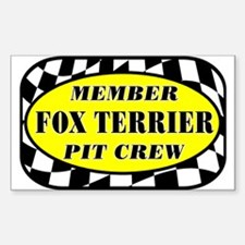 Fox Terrier PIT CREW Decal