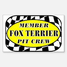 Fox Terrier PIT CREW Sticker (Rectangle)