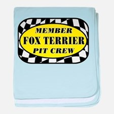 Fox Terrier PIT CREW baby blanket