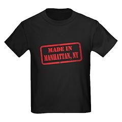 MADE IN MANHATTAN, NY Kids Dark T-Shirt