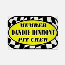 Dandie Dinmont PIT CREW Rectangle Magnet