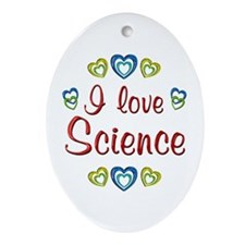 I Love Science Ornament (Oval)