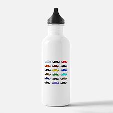 COLORFUL MOUSTACHE Water Bottle