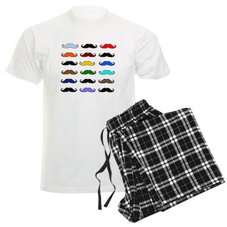 COLORFUL MOUSTACHE Men's Light Pajamas