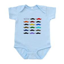 COLORFUL MOUSTACHE Infant Bodysuit