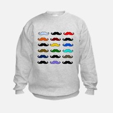 COLORFUL MOUSTACHE Jumpers