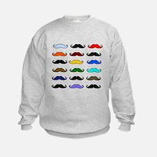 COLORFUL MOUSTACHE Sweatshirt