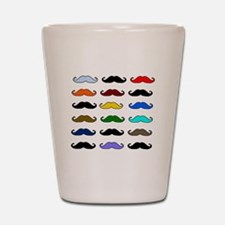 COLORFUL MOUSTACHE Shot Glass