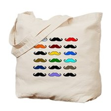 COLORFUL MOUSTACHE Tote Bag