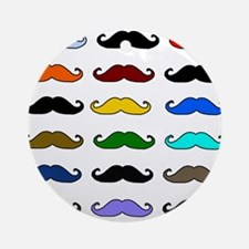 COLORFUL MOUSTACHE Ornament (Round)