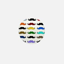 COLORFUL MOUSTACHE Mini Button (100 pack)
