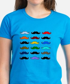 COLORFUL MOUSTACHE Tee