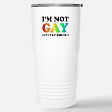 I'm not gay but my boyfriend is Travel Mug