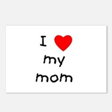 I love my mom Postcards (Package of 8)