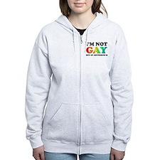 I'm not gay but my boyfriend is Zip Hoodie