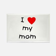 I love my mom Rectangle Magnet