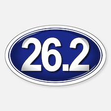 26.2 BLUE Marathon Sticker (Oval)