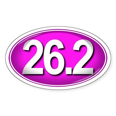 26.2 PINK Marathon Sticker (Oval)