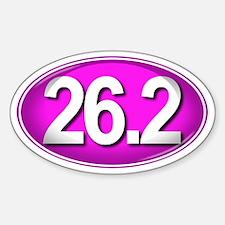 26.2 PINK Marathon Sticker (Oval)
