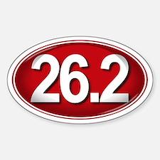 26.2 RED Marathon Sticker (Oval)