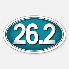 26.2 TEAL Marathon Sticker (Oval)
