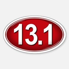 13.1 RED Marathon Sticker (Oval)