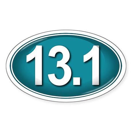 13.1 TEAL Marathon Sticker (Oval)