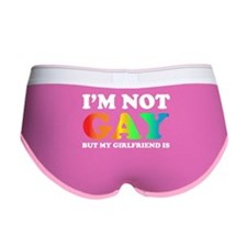 I'm not gay but my girlfriend is Women's Boy Brief