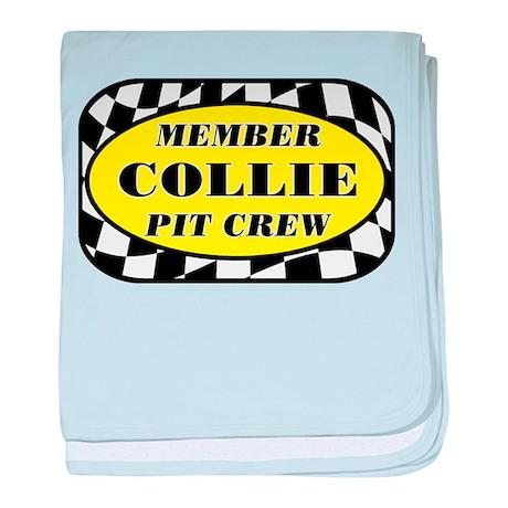 Collie PIT CREW baby blanket