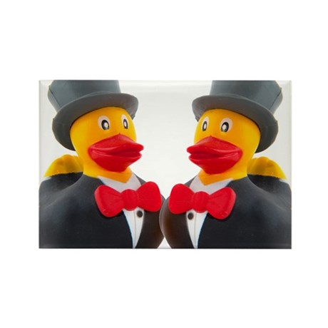DUCK GROOMS Rectangle Magnet (100 pack)