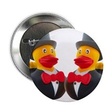 """DUCK GROOMS 2.25"""" Button (10 pack)"""
