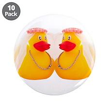 "DUCK BRIDES 3.5"" Button (10 pack)"