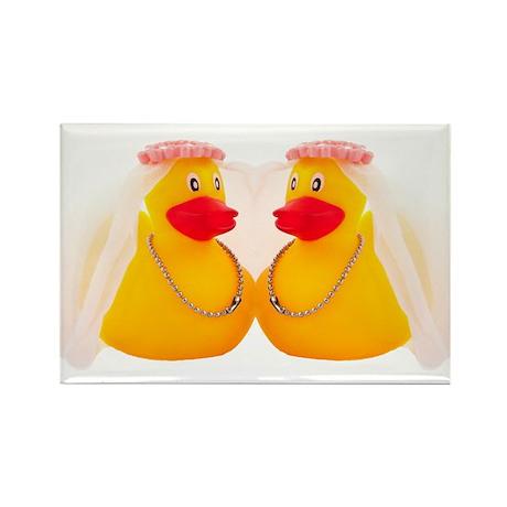 DUCK BRIDES Rectangle Magnet (10 pack)