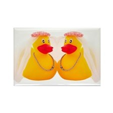 DUCK BRIDES Rectangle Magnet