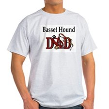 Basset Hound Dad Ash Grey T-Shirt