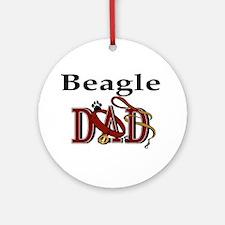Beagle Dad Ornament (Round)