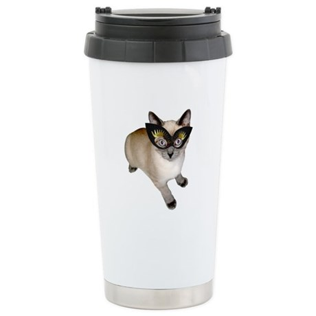 Kitty in Mask Stainless Steel Travel Mug