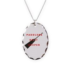 Paddlers-Do-It-Deeper Necklace Oval Charm