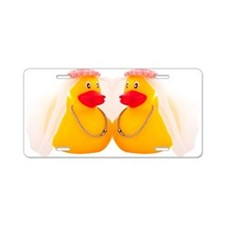 DUCK BRIDES Aluminum License Plate