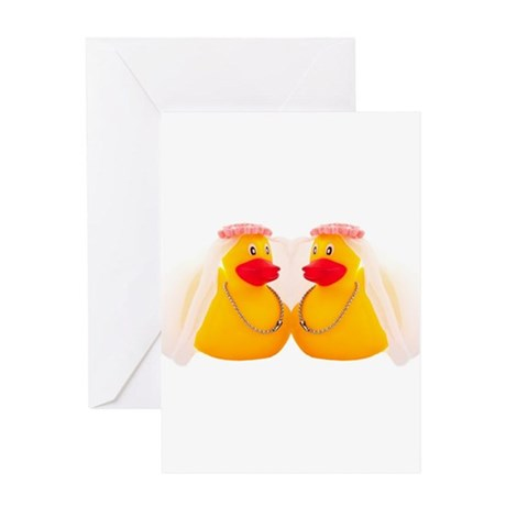 DUCK BRIDES Greeting Card