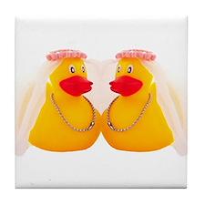 DUCK BRIDES Tile Coaster