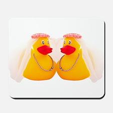 DUCK BRIDES Mousepad